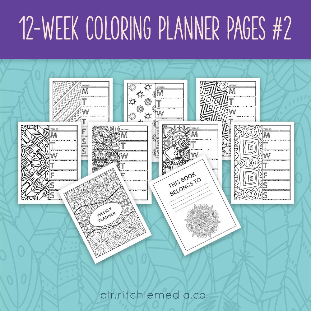 12 Week Coloring Planner Vol 2