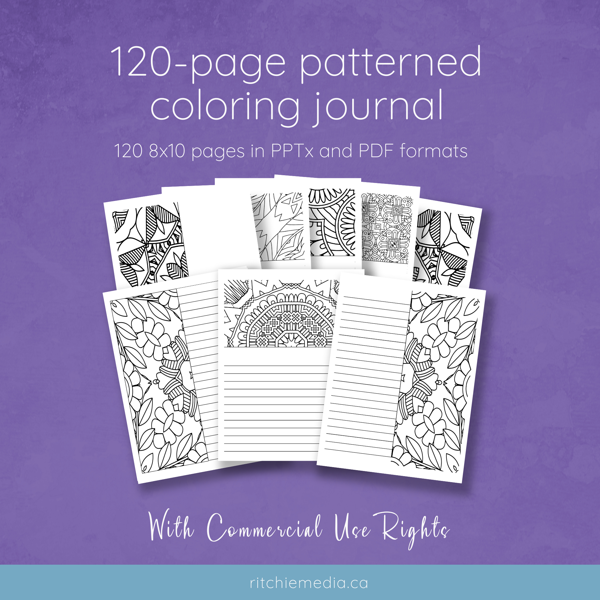coloring journal 2 mockup