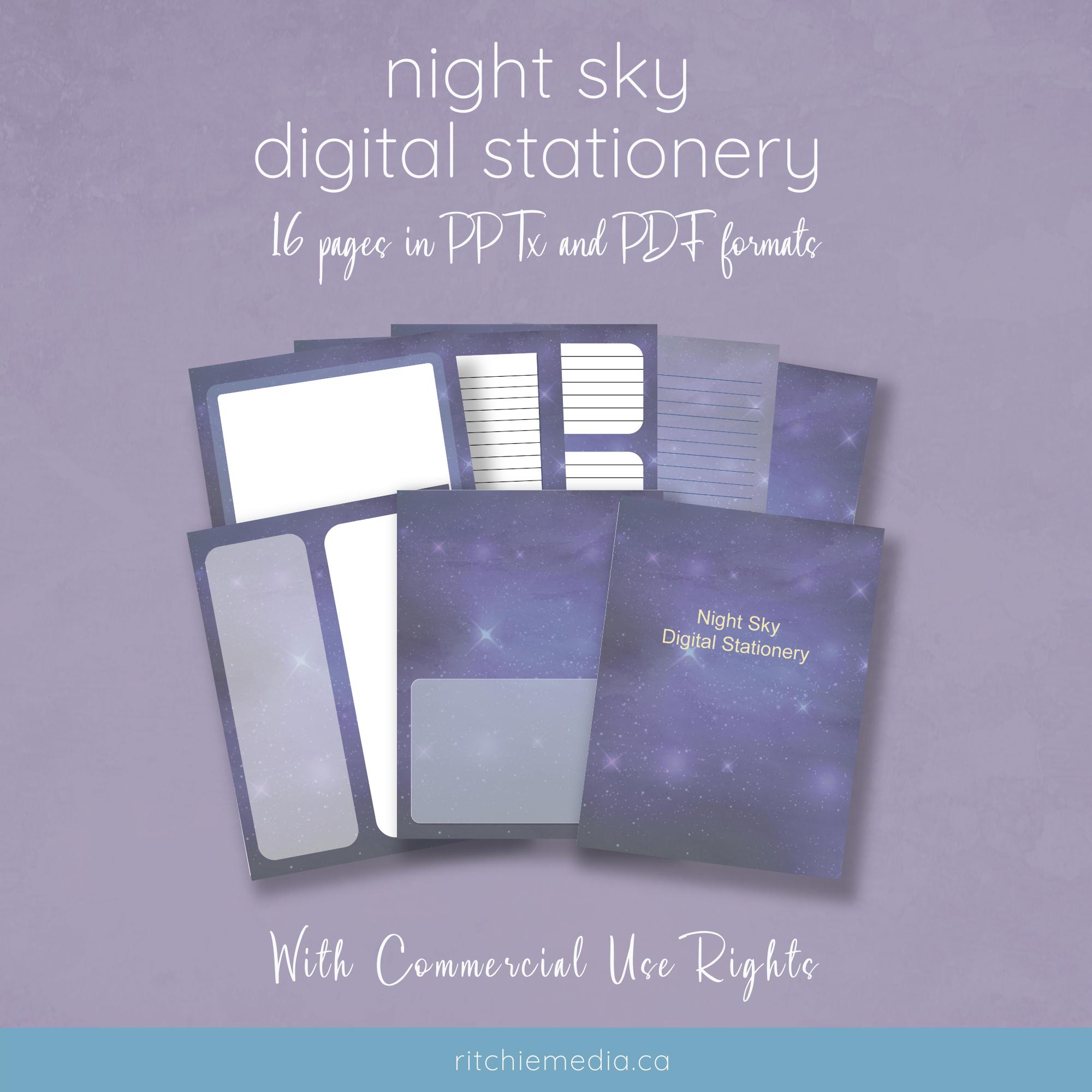 nightsky journal templates mockup