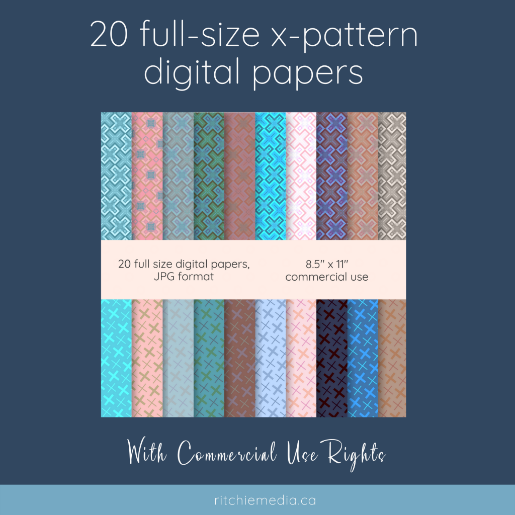 xpattern digital paper mockup finished