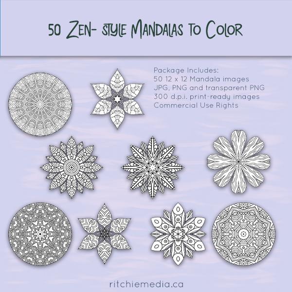 50DFY Zen-style Mandalas to Color