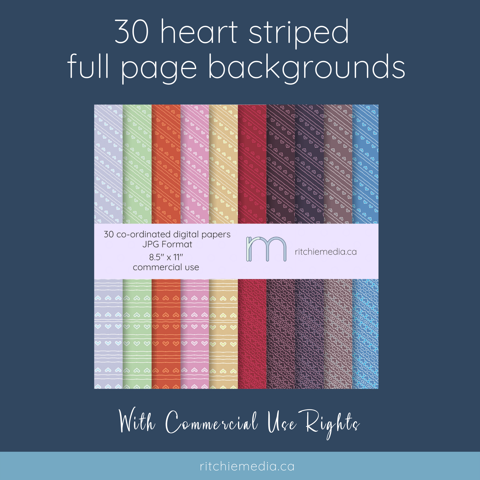 promo image for heart stripes backgrounds